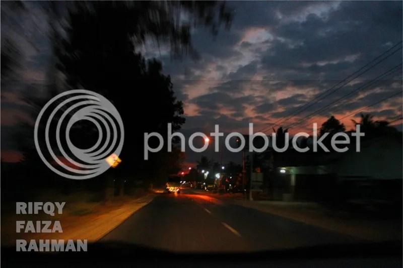 Langit senja di Banjarnegara
