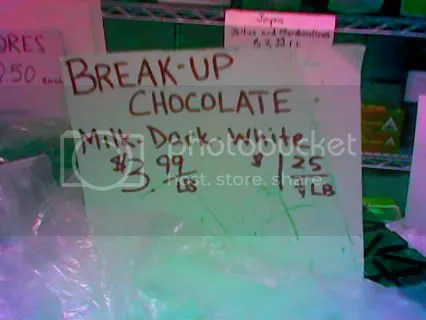 breakup chocolate