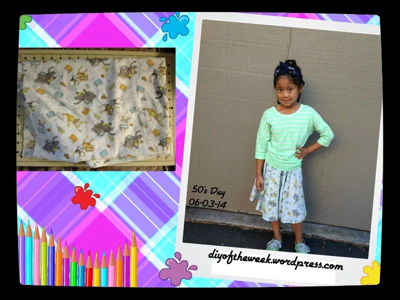 50's decades week - diy circle skirt