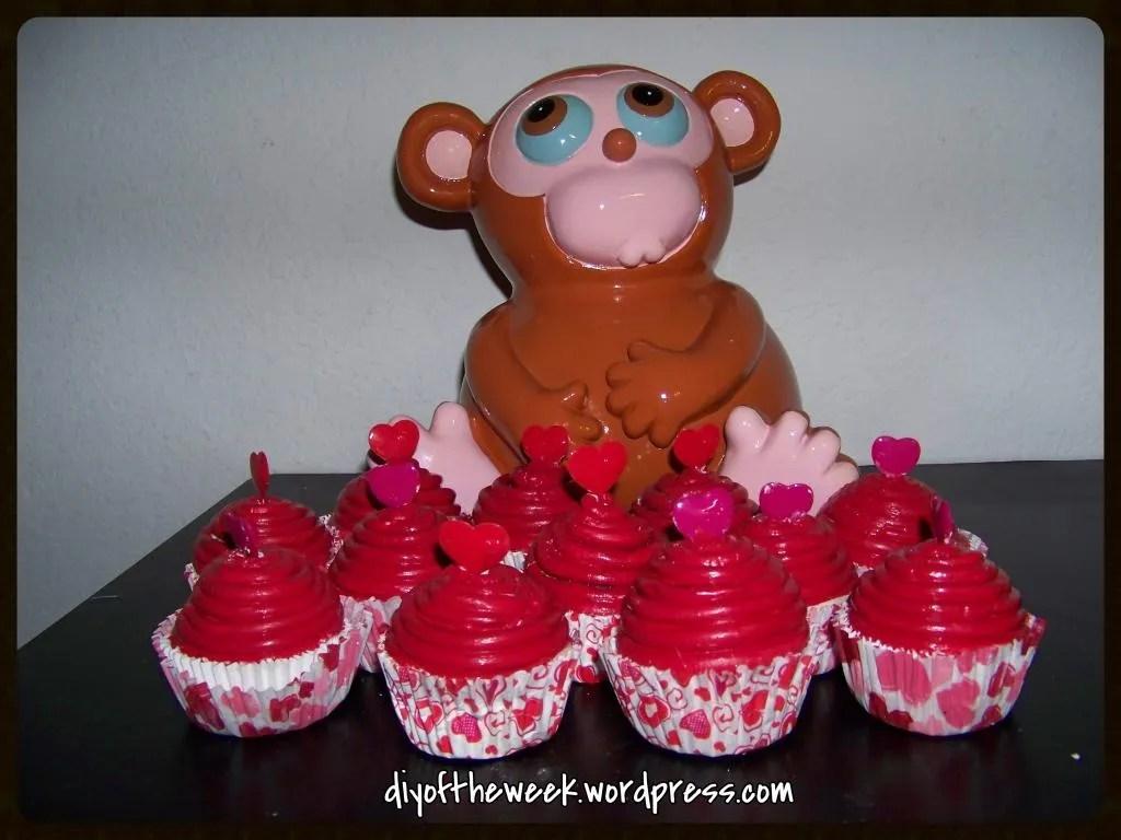 diy valentine cupcakes