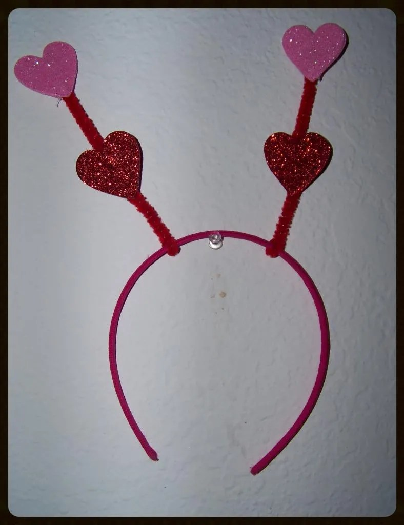 diy valentine headband