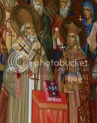 Sf. Ier. Dosoftei alaturi de Sf. Stefan cel Mare