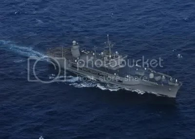 USS Blue Ridge at sea