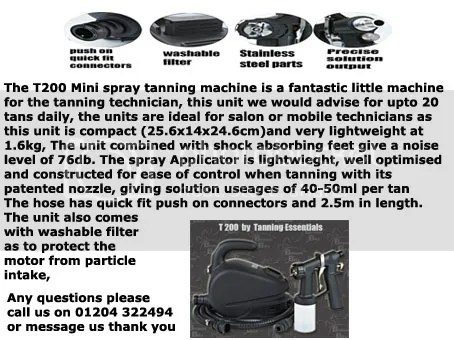 spray tanning machine system