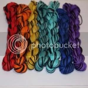 mini skein set - black rainbow