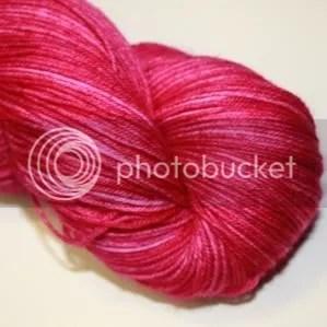 semi solid raspberry sock yarn