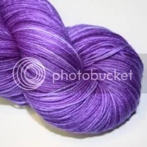 semi solid violet sock yarn