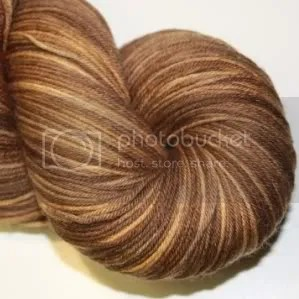 semi solid walnut sock yarn