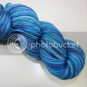 4ply sock blue ocean