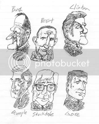 Bush Clinton caricatures