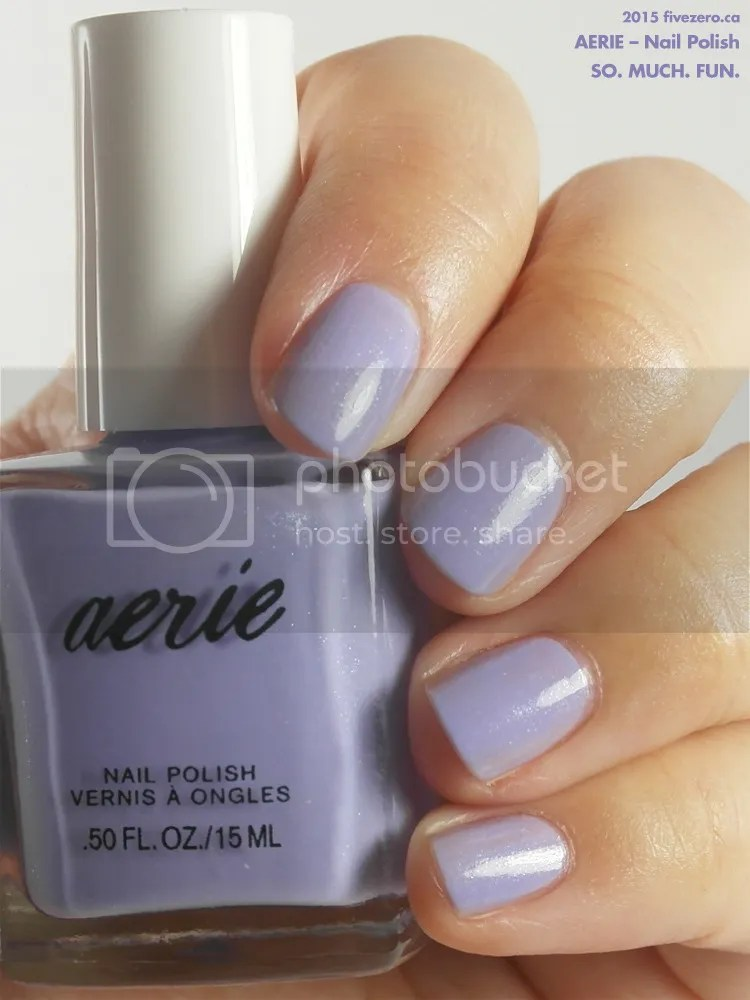 Aerie Nail Polish in So. Much. Fun., swatch