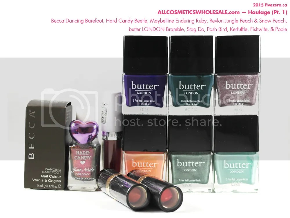 All Cosmetics Wholesale ACW Haulage Butter London, Becca, Hard Candy, nail polish, Revlon, Maybelline, lipstick