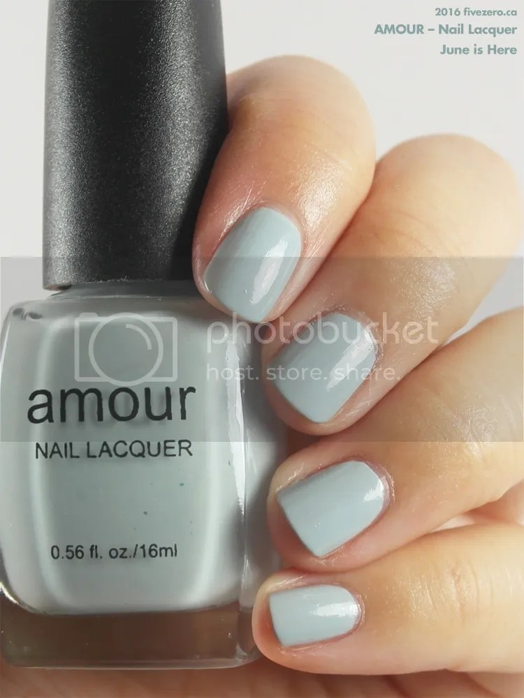 Amour Nail Lacquer in June is Here, swatch