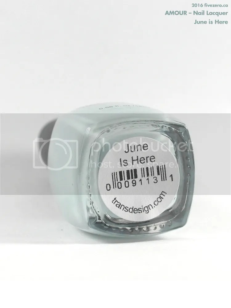 Amour Nail Lacquer in June is Here, label