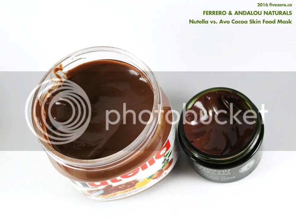 Andalou Naturals Avo Cocoa Skin Food Mask vs Ferrero Nutella
