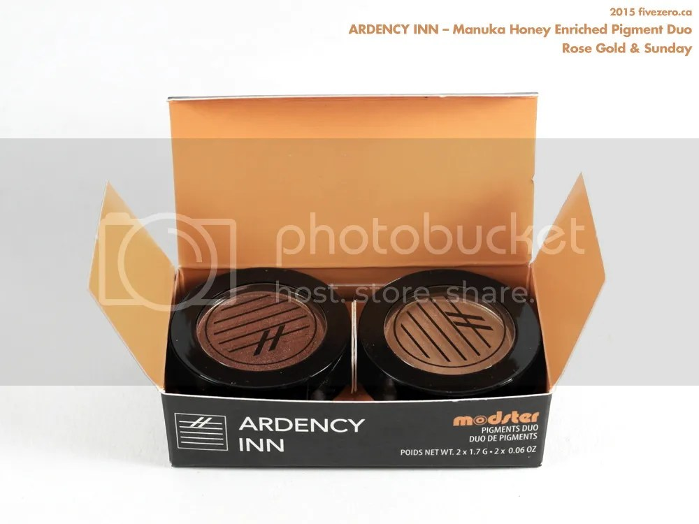 Ardency Inn Modster Manuka Honey Enriched Pigment Duo in Rose Gold & Sunday