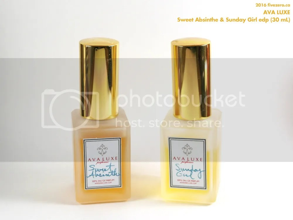 Ava Luxe Sweet Absinthe & Sunday Girl edp