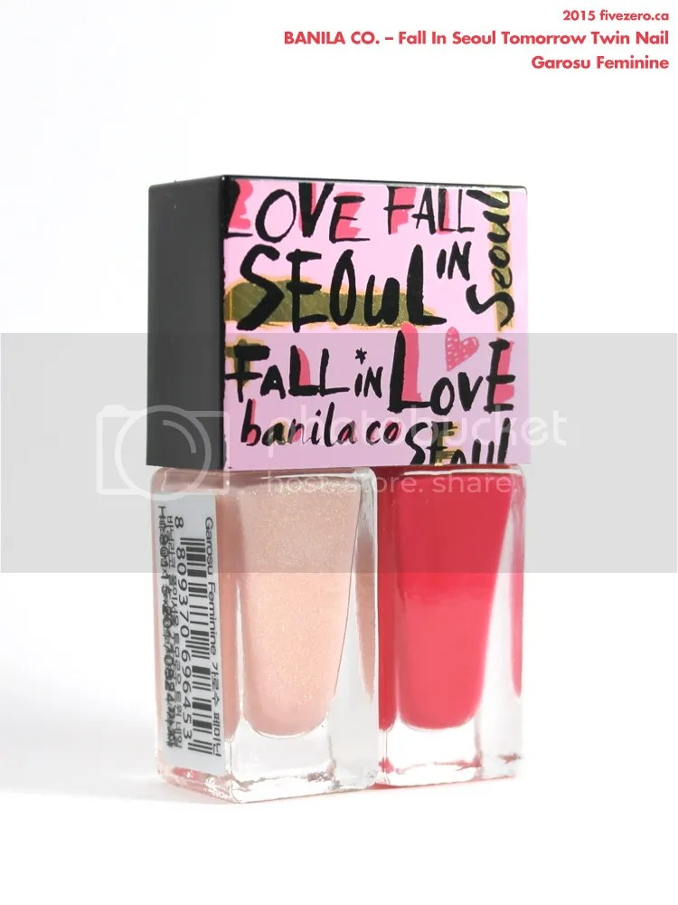 Banila Co. Fall in Love Tomorrow Twin Nail in Garosu Feminine, label