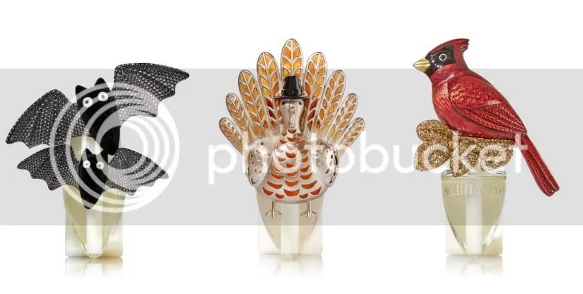 Bath & Body Works Wallflowers Home Fragrance Plugs in Fancy Bat, Turkey, and Winter Cardinal, 2016 Holidays