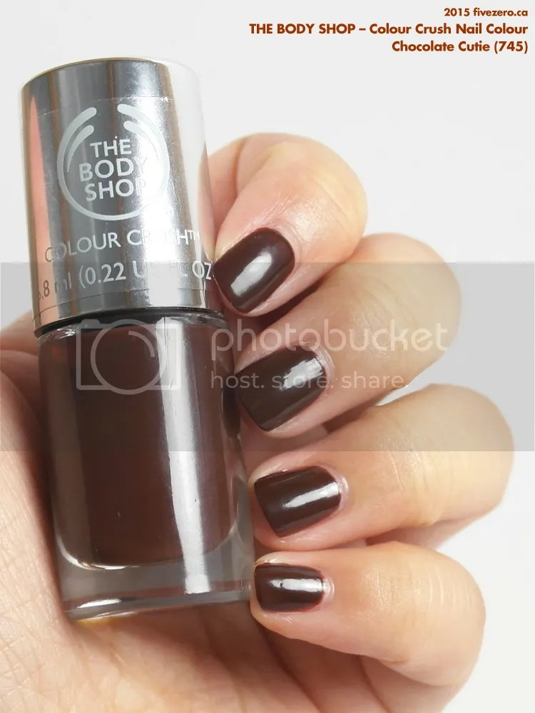 The Body Shop Colour Crush Nail Colour in Chocolate Cutie, swatch