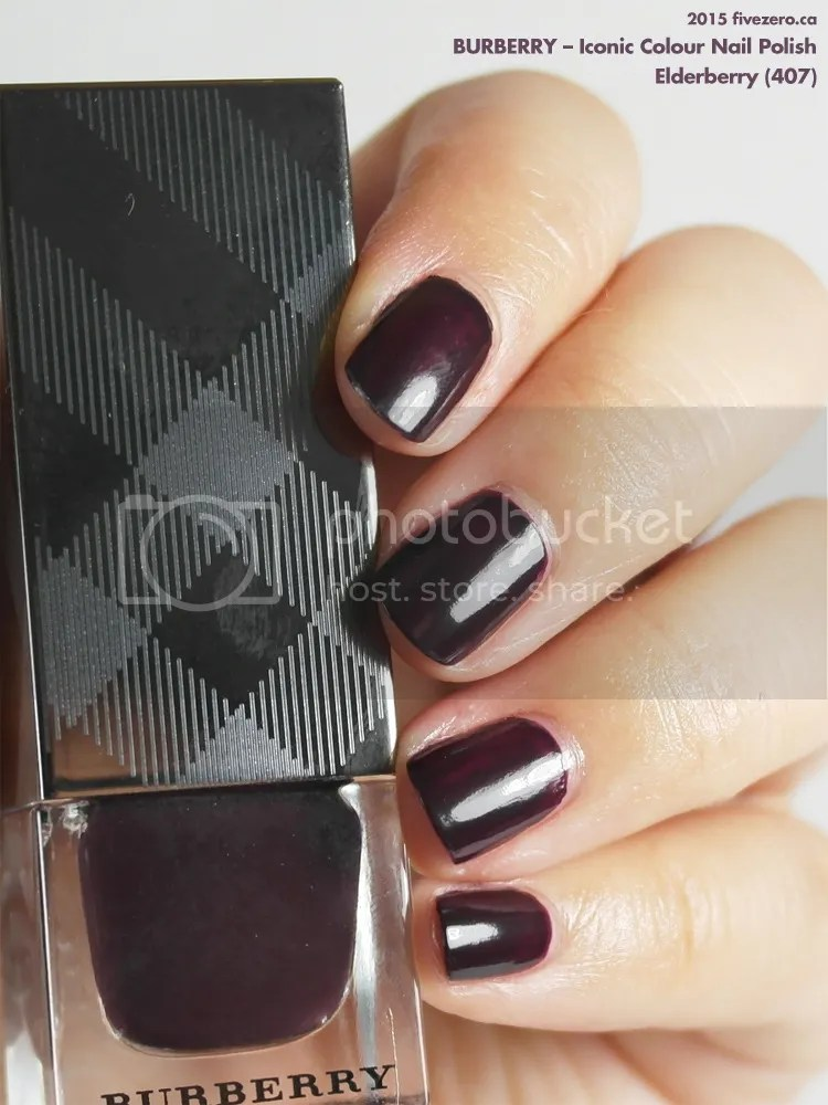 Burberry Iconic Colour Nail Polish in Elderberry, swatch