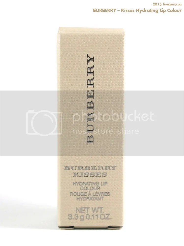 Burberry Kisses Hydrating Lip Colour in khaki box