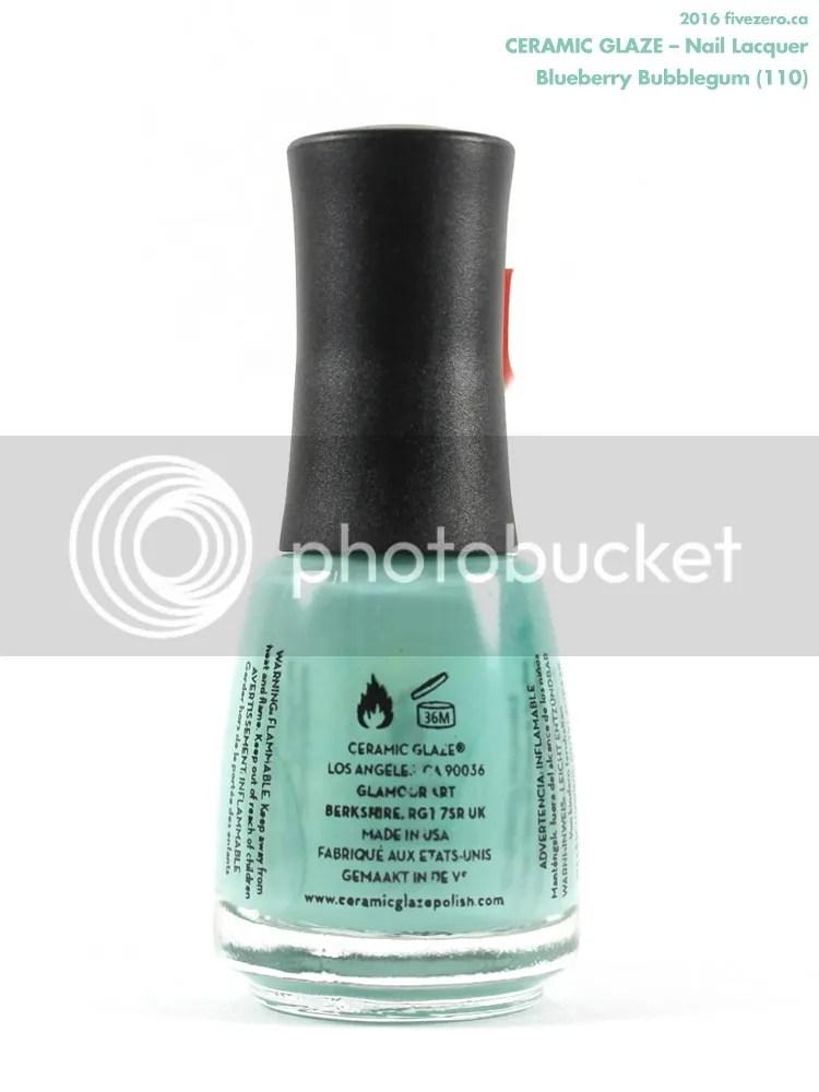 Ceramic Glaze Nail Lacquer in Blueberry Bubblegum, label