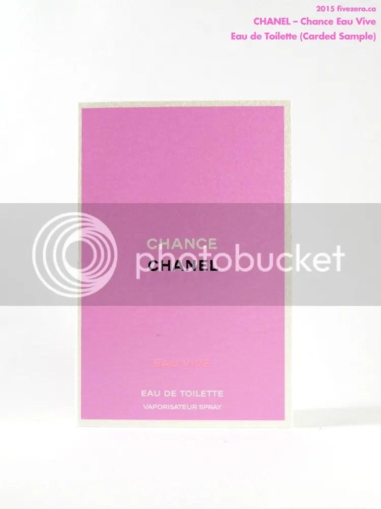 Chanel Chance Eau Vive eau de toilette, carded sample