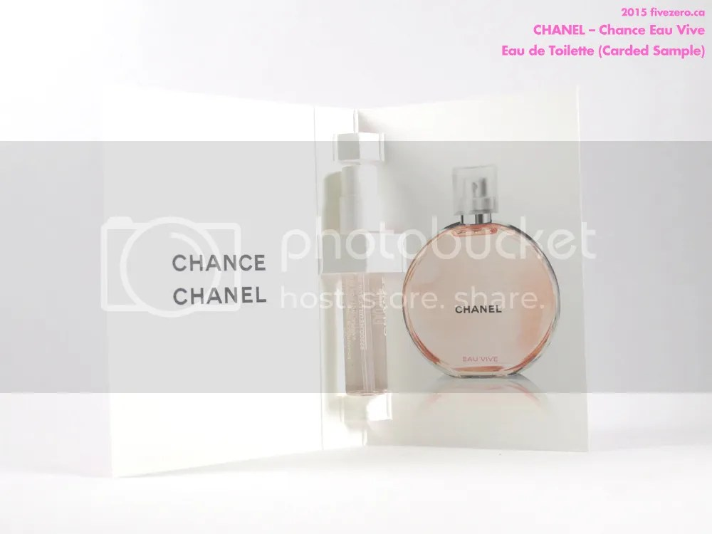 Chanel Chance Eau Vive eau de toilette, carded sample