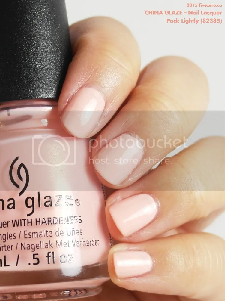 China Glaze Nail Lacquer in Pack Lightly, swatch