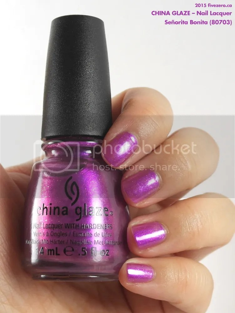China Glaze Nail Lacquer in Señorita Bonita, swatch