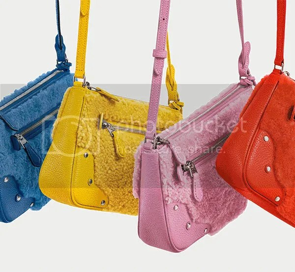 Coach Rainbow Shearling handbag collection