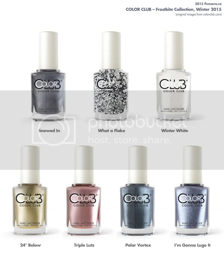 Color Club Frostbite Winter 2015 Collection