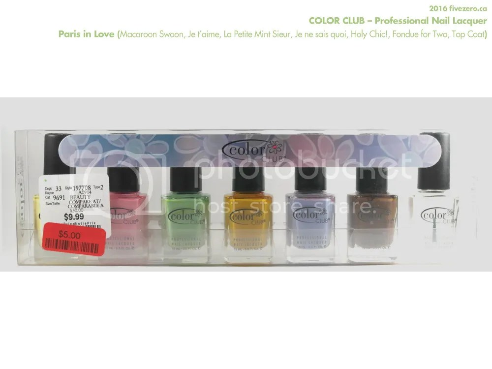 Color Club Professional Nail Lacquer, Paris in Love collection