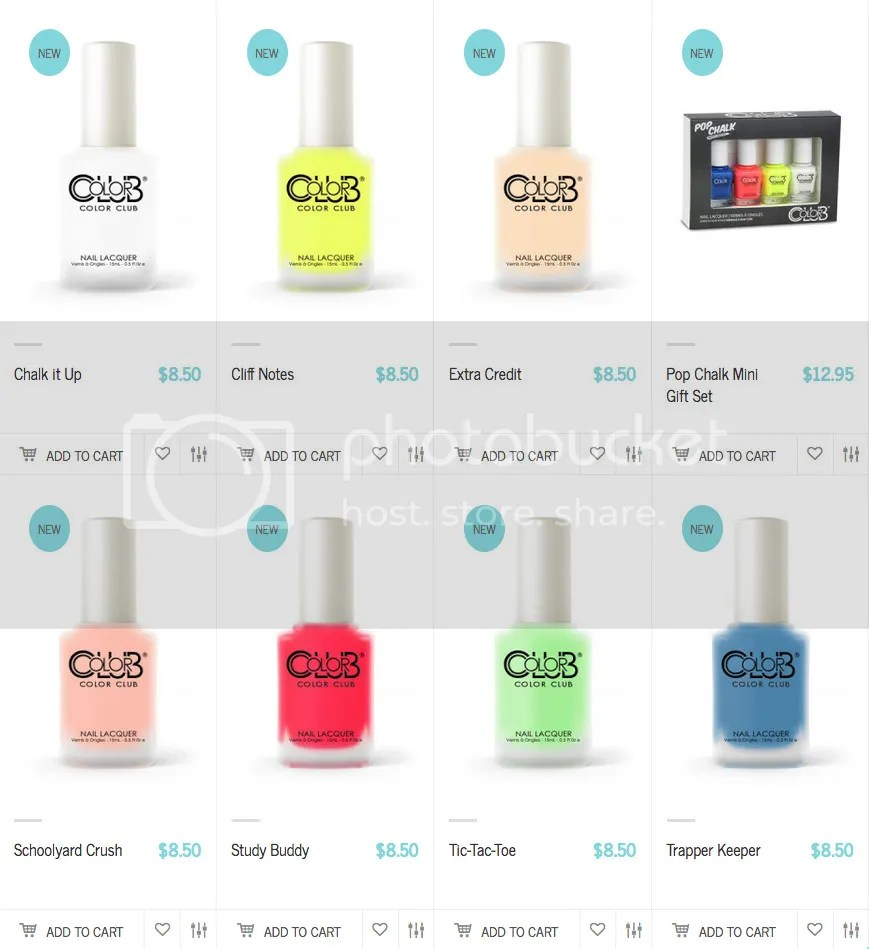Color Club Pop Chalk Summer 2016 Collection