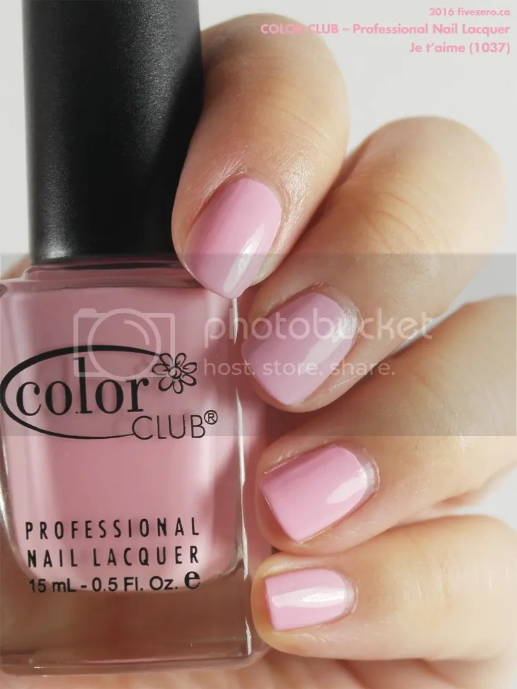 Color Club Professional Nail Lacquer in Je t'aime, swatch