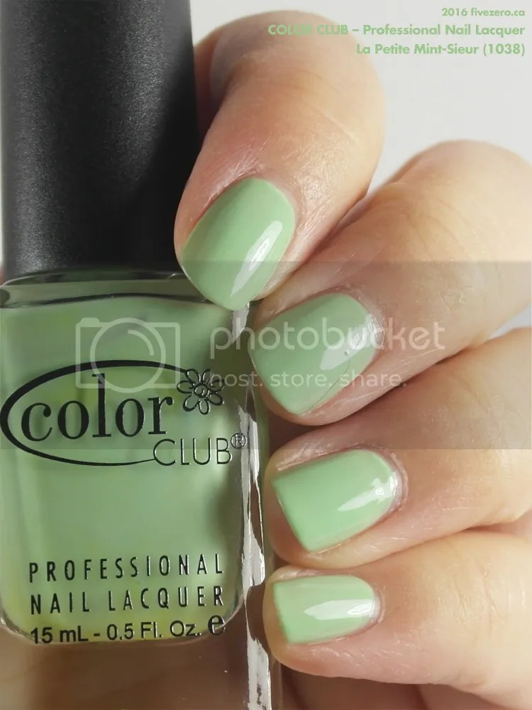 Color Club Professional Nail Lacquer in La Petite Mint-Sieur, swatch