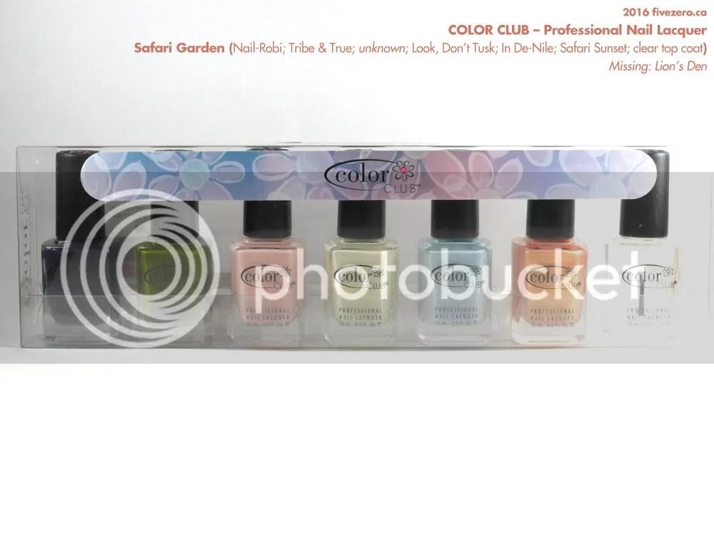 Color Club Professional Nail Lacquer, Safari Garden collection