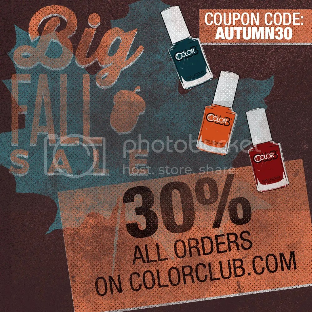 Color Club Online Sale 30% Off for Fall 2015