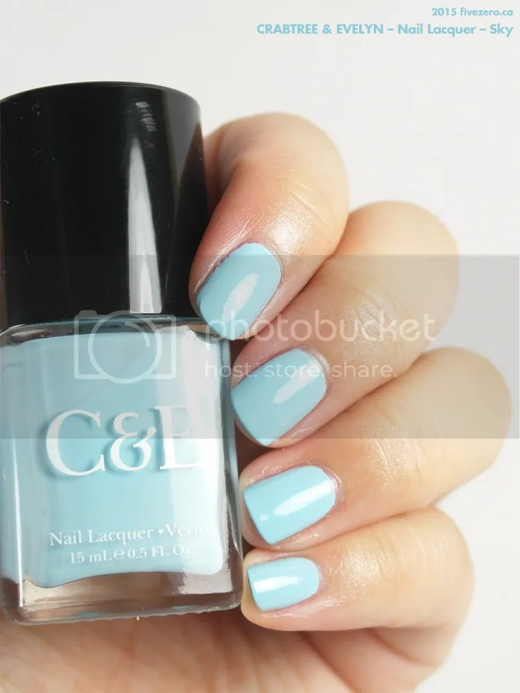 Crabtree & Evelyn Nail Lacquer in Sky, swatch