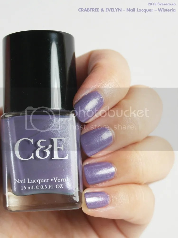 Crabtree & Evelyn Nail Lacquer in Wisteria, swatch