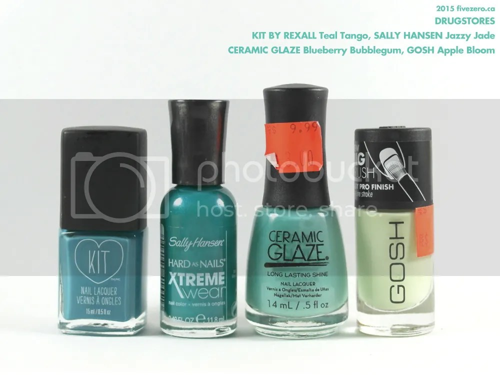 Drugstore haulage, KIT by Rexall, Sally Hansen, Ceramic Glaze, GOSH nail polish