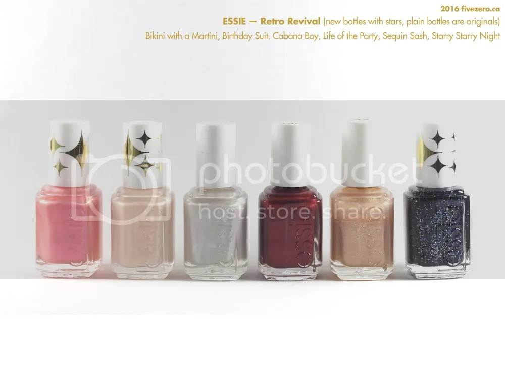 Essie Nail Polish Retro Revival collection, mix of original and new