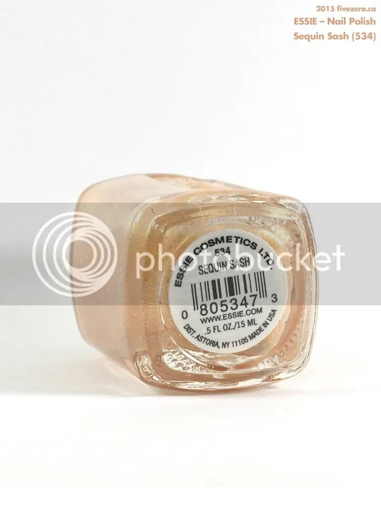 Essie Nail Polish in Sequin Sash, label