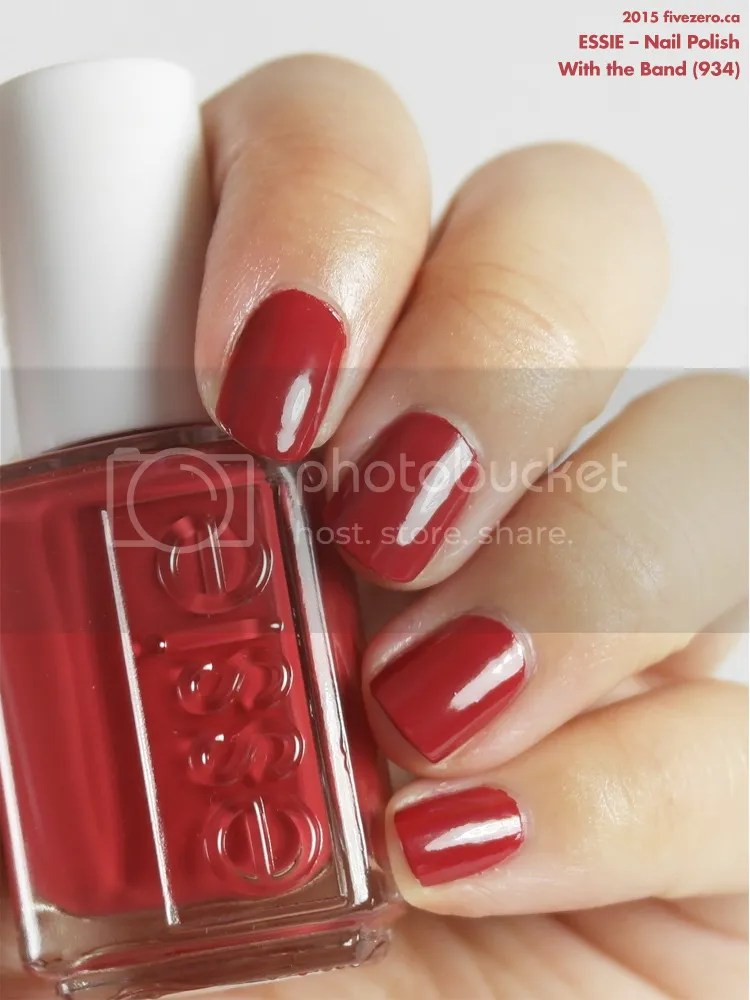 Essie With The Band Nail Polish Swatch Review Fivezero