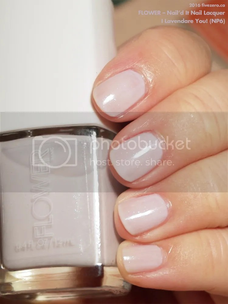 Flower Nail'd It Nail Lacquer in I Lavendare You!, swatch 2