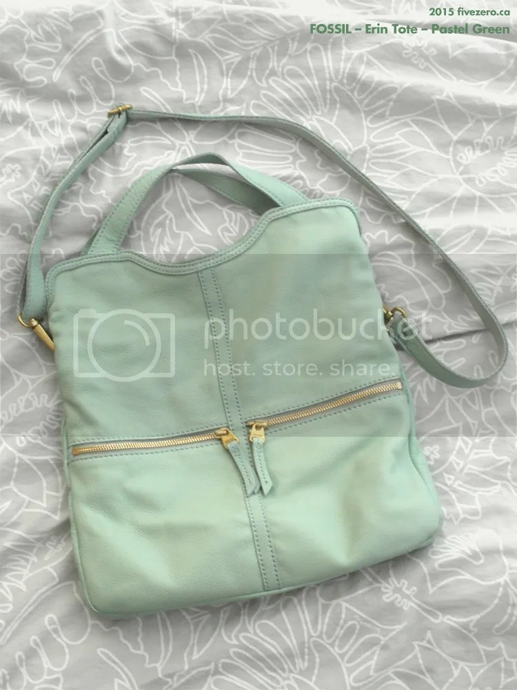 Fossil, Erin Tote, Pastel Green