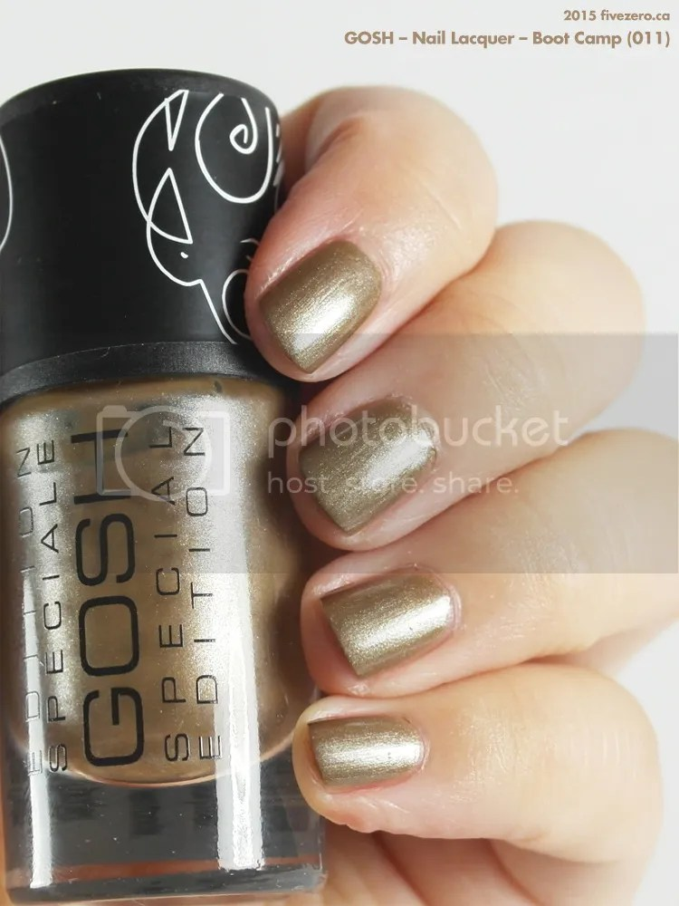 Gosh Nail Lacquer in Boot Camp, swatch