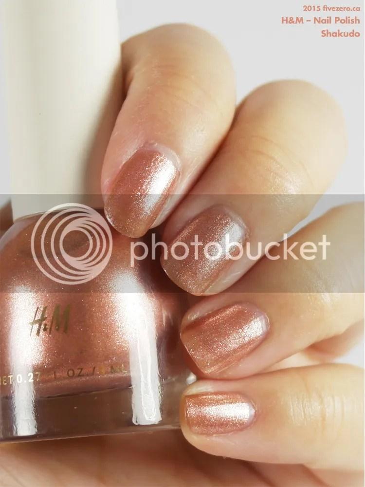 H&M Nail Polish in Shakudo, swatch