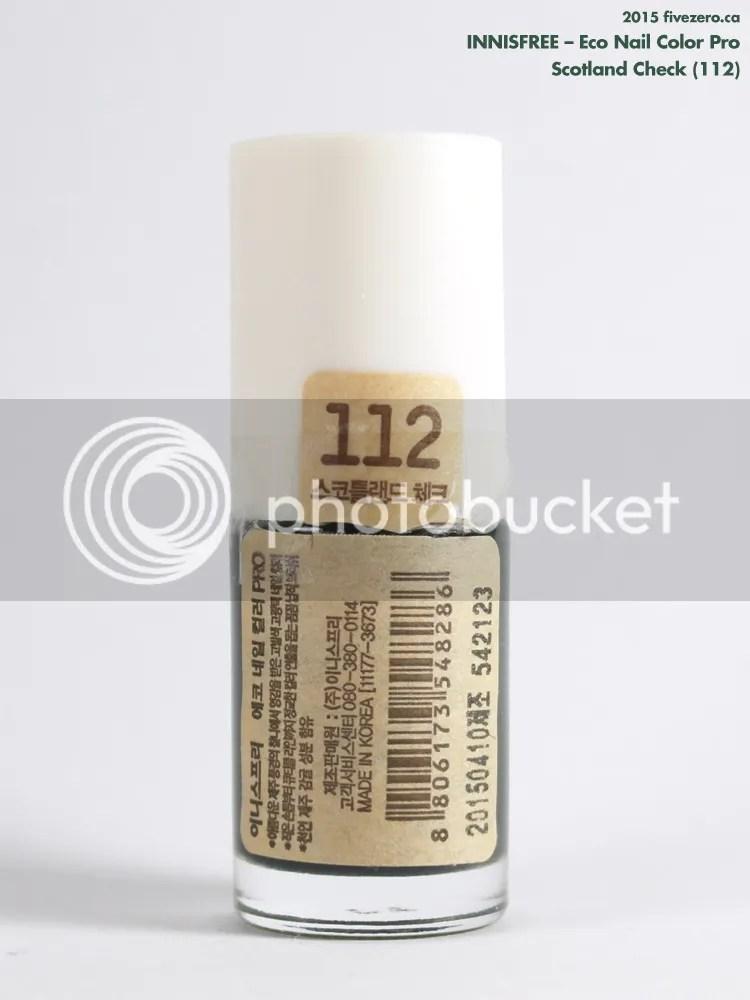 Innisfree Eco Nail Color Pro in Scotland Check, label